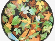 colored leaves ceramics